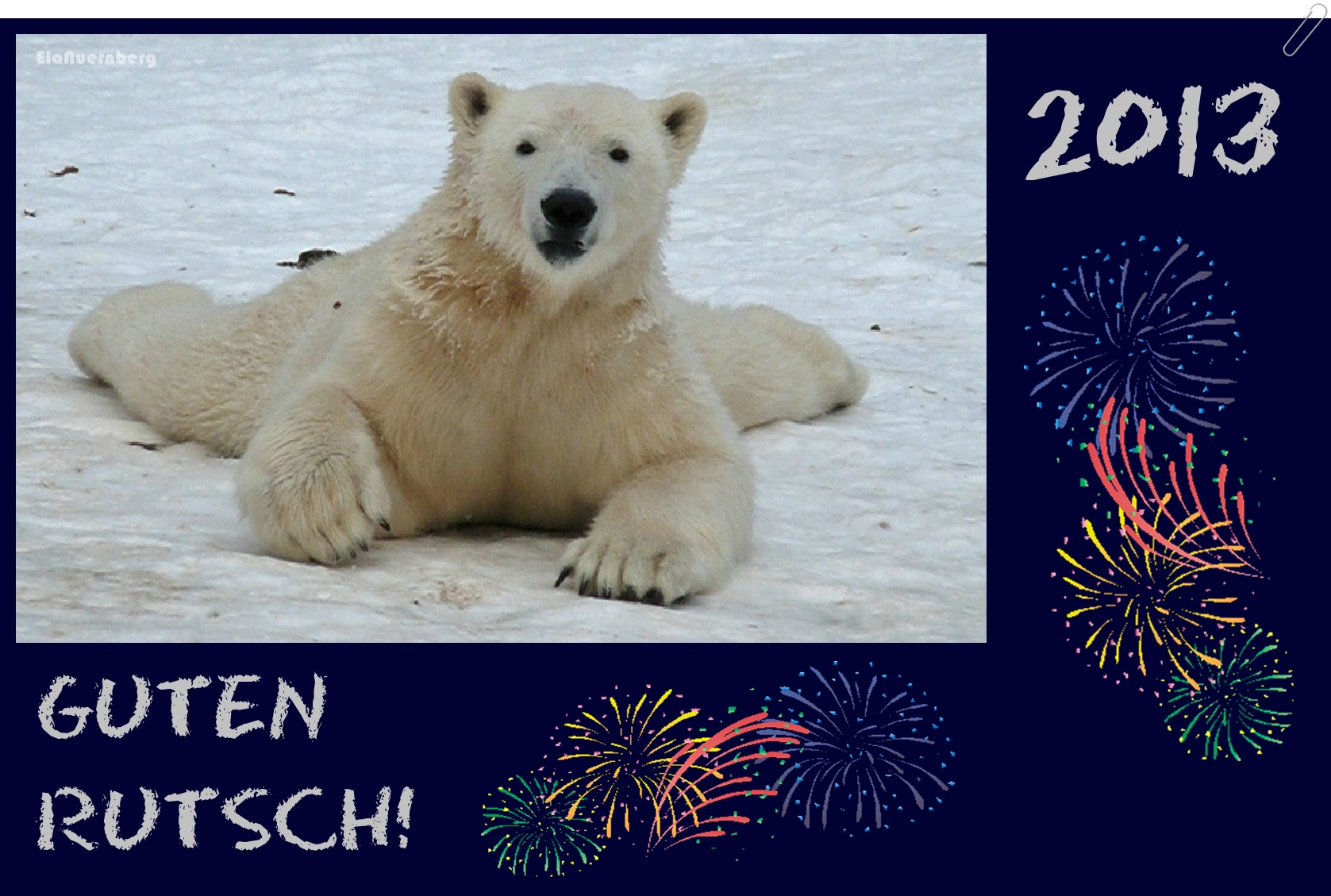 Guten Rutsch 2013 - Eisbär GREGOR - Tiergarten Nürnberg - 12/2012