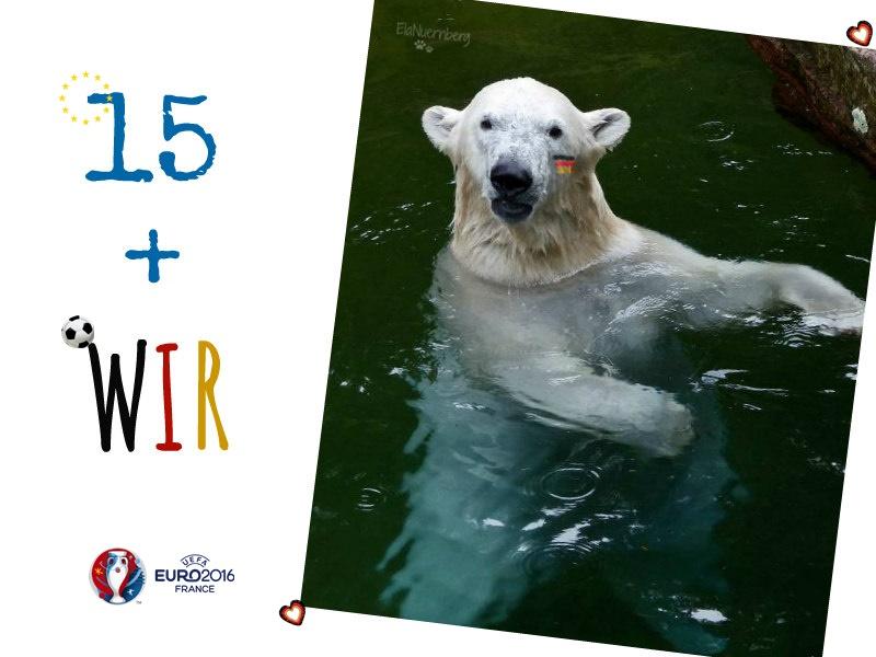 Fußball-EM-Maskottchen - Eisbär CHARLOTTE - WIR - Slowakei - EM - 26.06.2016