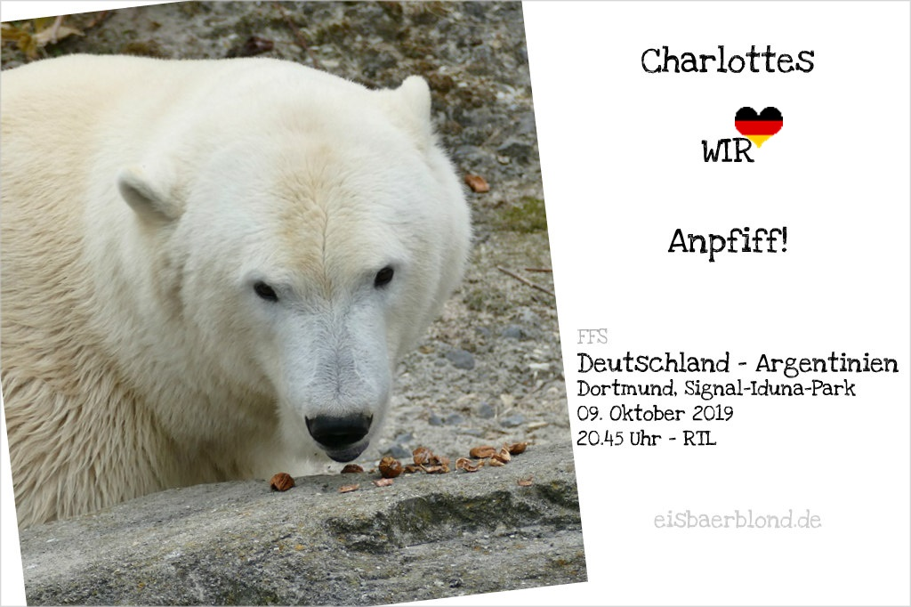 Charlottes WIR-Anpfiff! - Deutschland - Argentinien - FFS - 09-10.2019