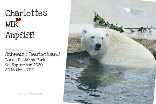 Eisbär Charlottes WIR-Anpfiff - Schweiz - Deutschland - 06.09.2020