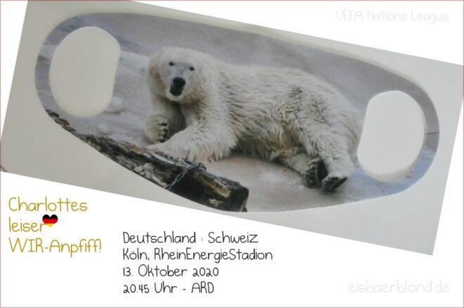 Leiser WIR-Anpfiff - Eisbär Charlotte - Deutschland - Schweiz - 13.10.2020